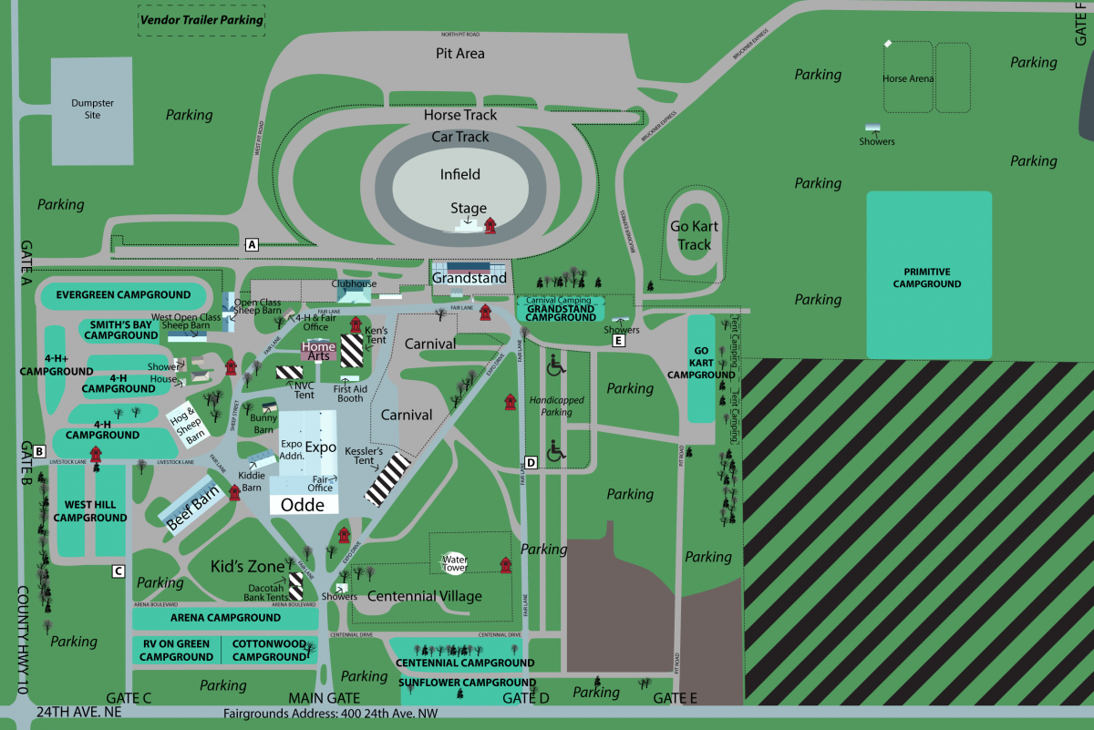 Map of Fairgrounds